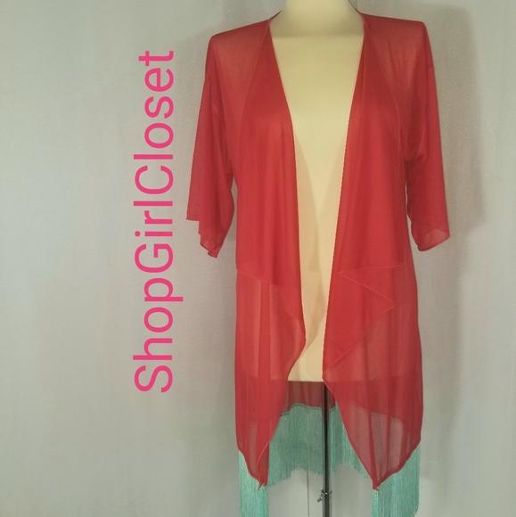 Lularoe Monroe Cardigan...Red...Size S